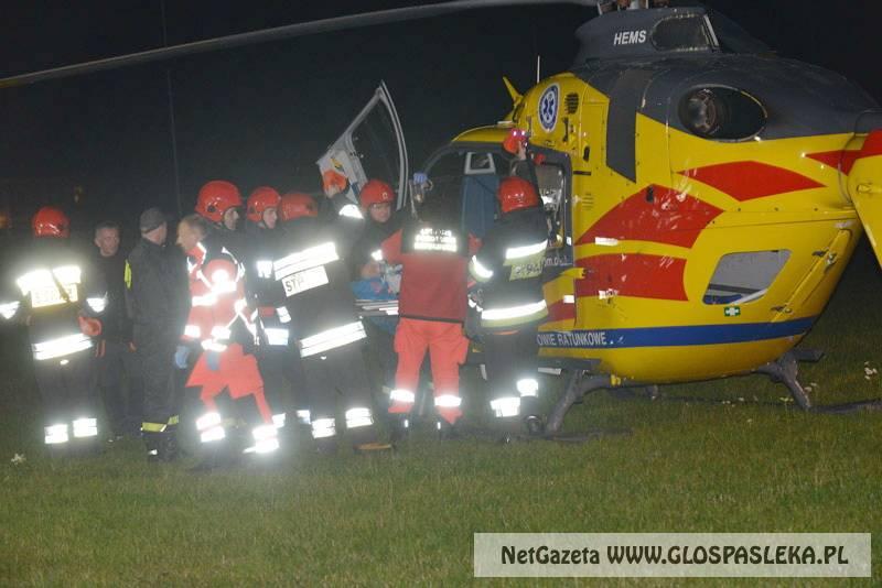 Helikopter zabrał chorego po ciężkim zawale