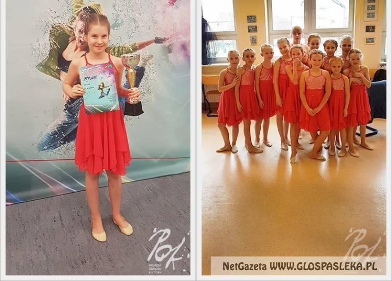 Baletnice z Pasłęka z pucharem po festiwalu