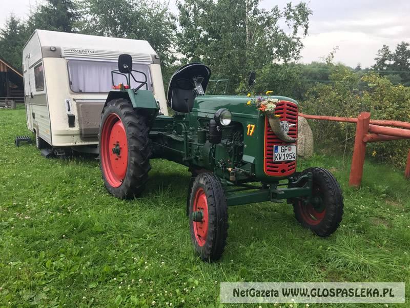 Traktorem z Niemiec do Polski