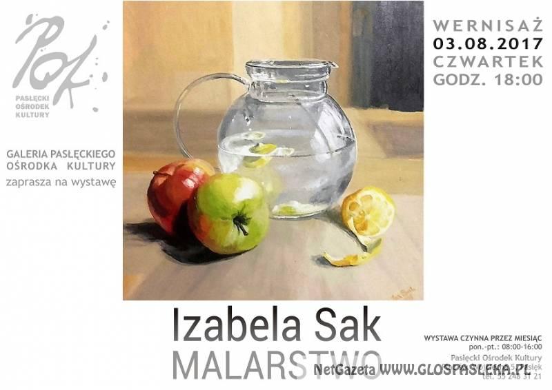 Wernisaż wystawy malarstwa Izabeli Sak