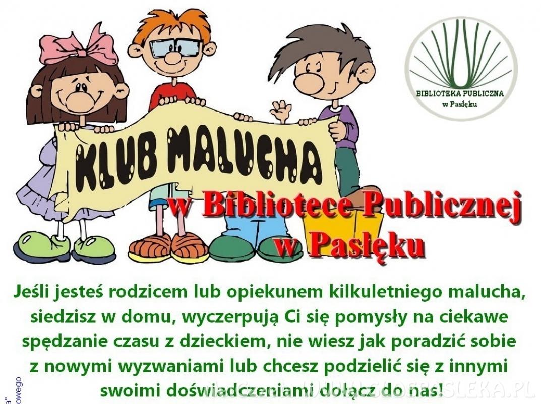 Klub Malucha w Bibliotece Publicznej w Pasłęku