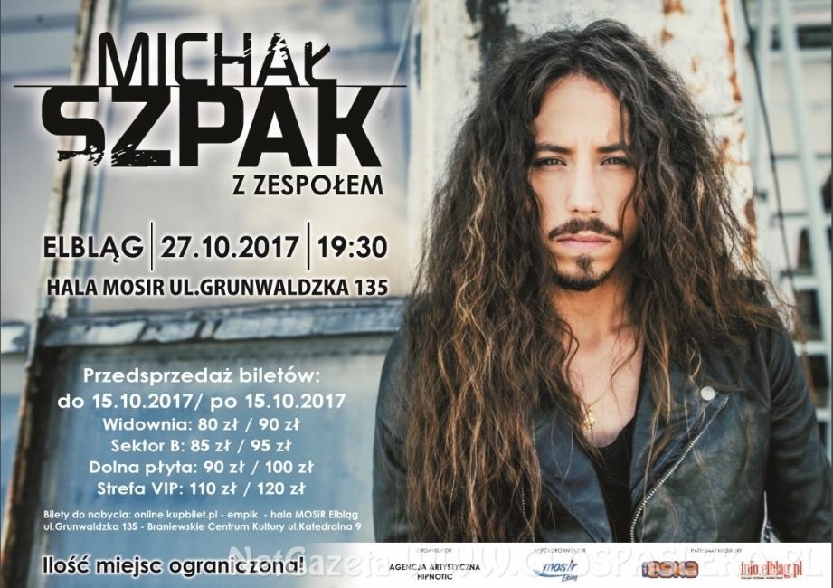 Michał Szpak w Elblągu