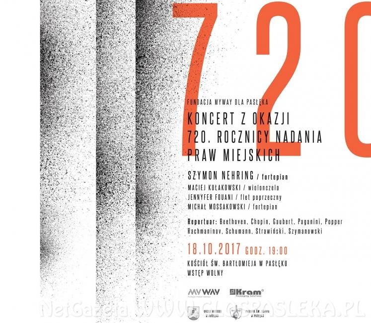 Koncert z okazji 720 rocznicy nadania praw miejskich