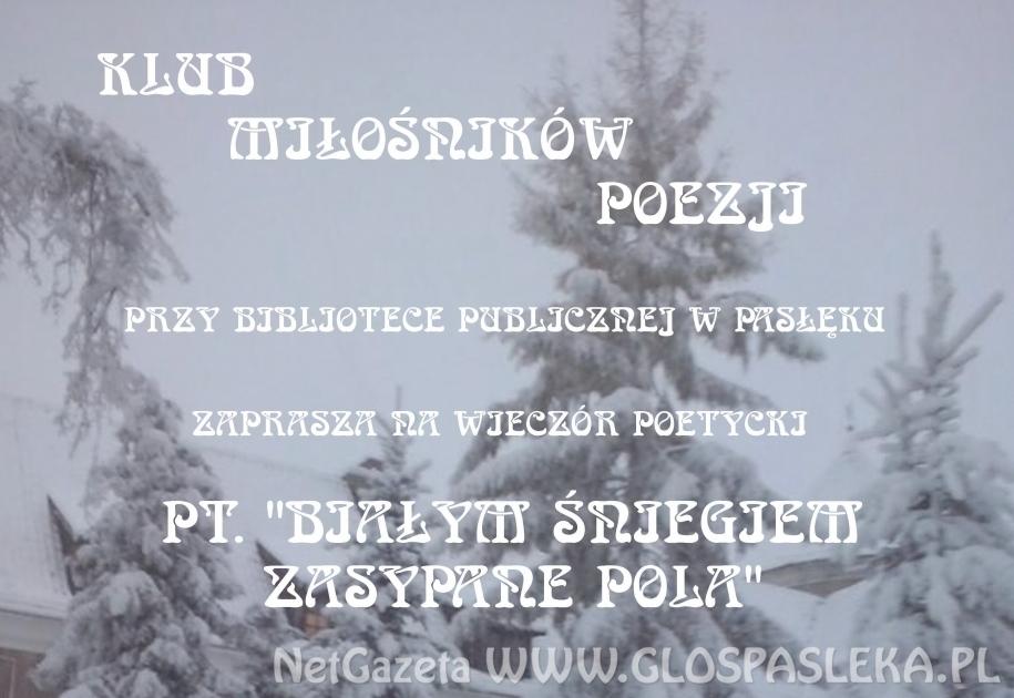 Zaproszenie na Wieczór poetycki