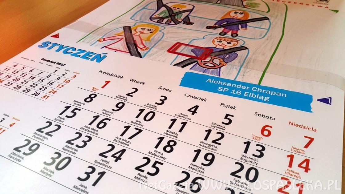 Dzieci rysują - policjanci publikują. Jest już nowy kalendarz z rysunkami dzieci