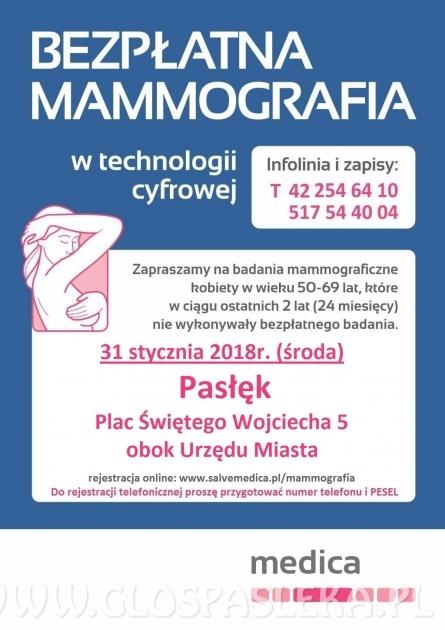 31 stycznia bezpłatne badania piersi