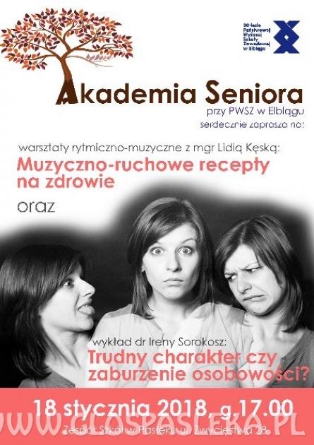Akademia Seniora - jutro pierwsze spotkanie