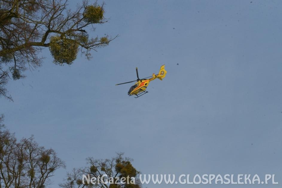 Helikopter lądował w Krośnie