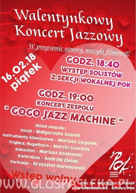 Walentynkowy koncert jazzowy