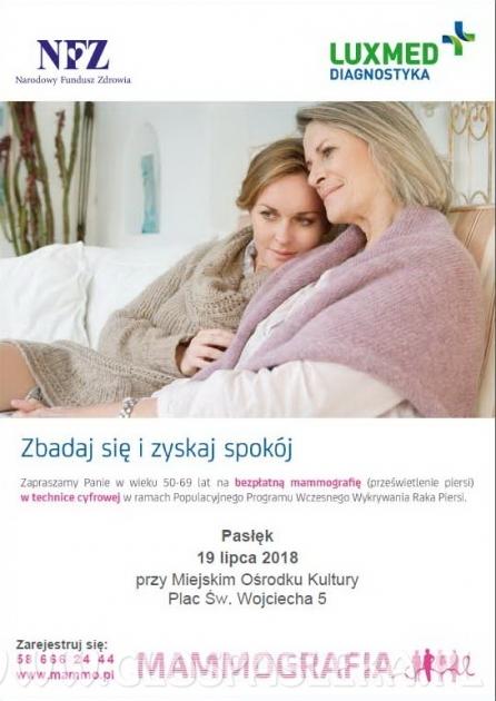 Badanie mammograficzne w Pasłęku