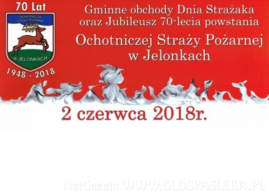 70-lecie OSP w Jelonkach i gminne obchody Dnia Strażaka