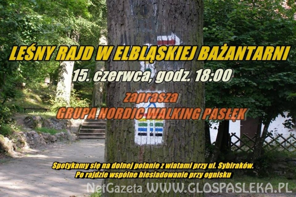 Zaproszenie na leśny rajd po elbląskiej Bażantarni