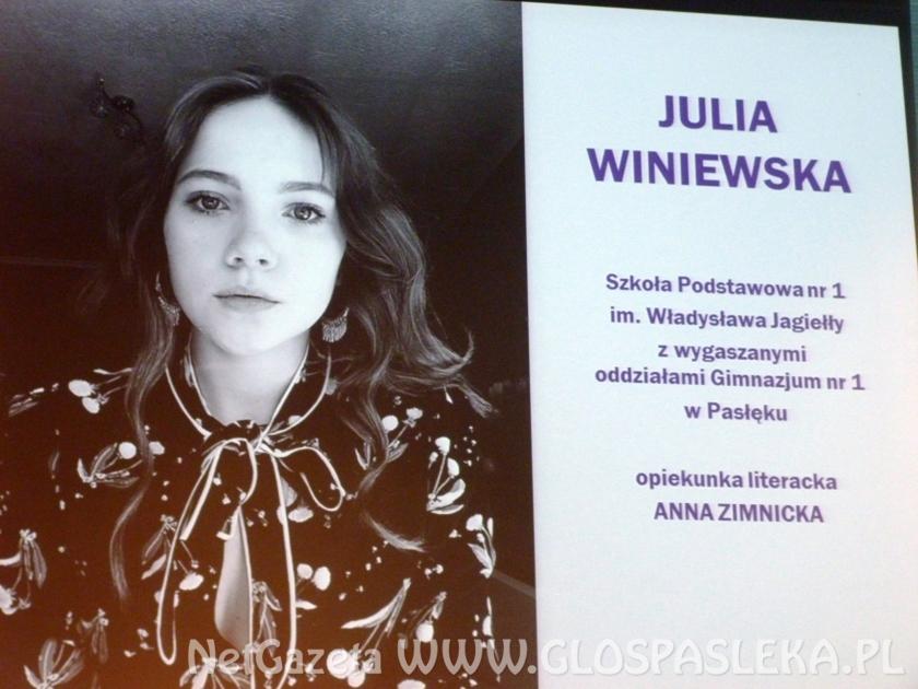 Laureatka ogólnopolskiego konkursu literackiego z SP nr 1
