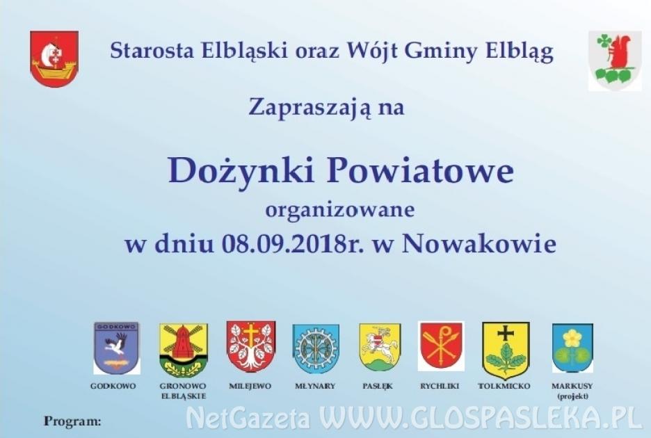 Zaproszenie na dożynki powiatowe