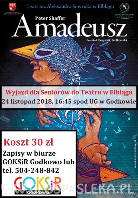 Amadeusz- wyjazd do teatru z GOKSiR Godkowo