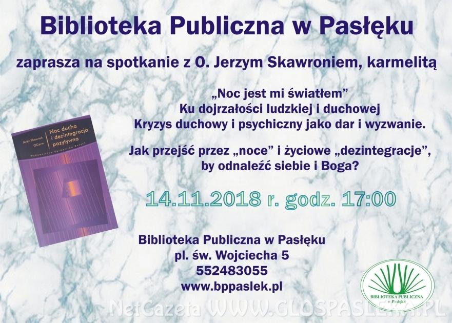 Spotkanie z O. dr hab. Jerzym Skawroniem