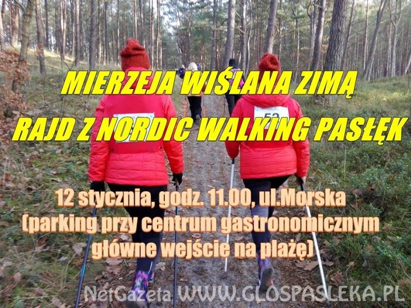 Mierzeja Zimą – Rajd z Nordic Walking Pasłęk