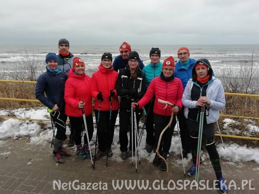 Kijkarze z Nordic Walking Pasłęk aktywnie weszli w Nowy Rok