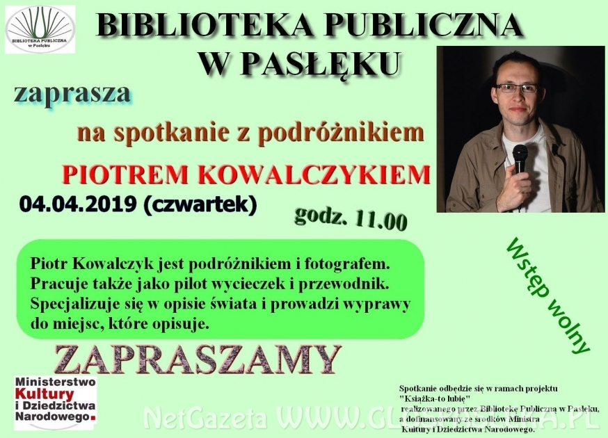 Spotkanie z Piotrem Kowalczykiem