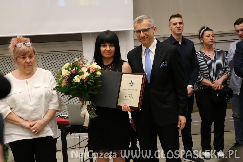 Barbara Zarudzka z wyróżnieniem prezesa NIK