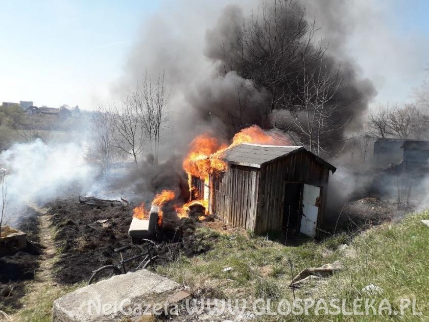 Pożar altany na ul. Polnej