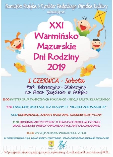 XXI Warmińsko Mazurskie Dni Rodziny 2019