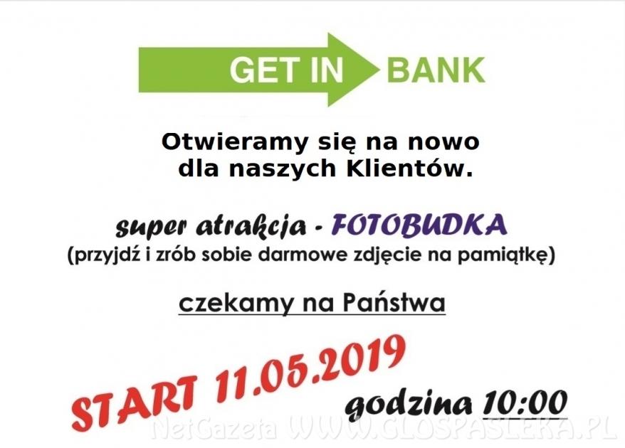 Już w sobotę - NOWA ODSŁONA GETIN BANKU