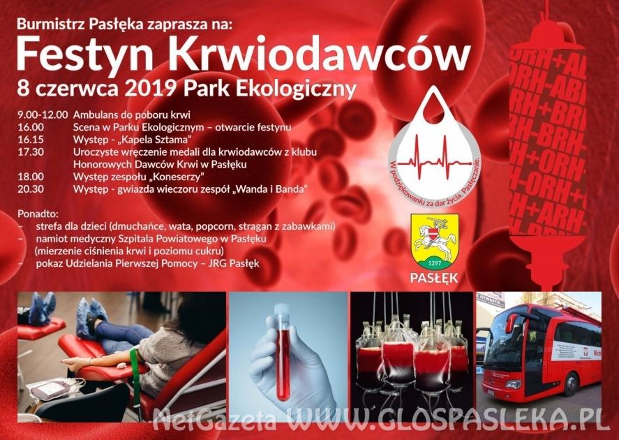 Burmistrz zaprasza na Festyn Krwiodawców