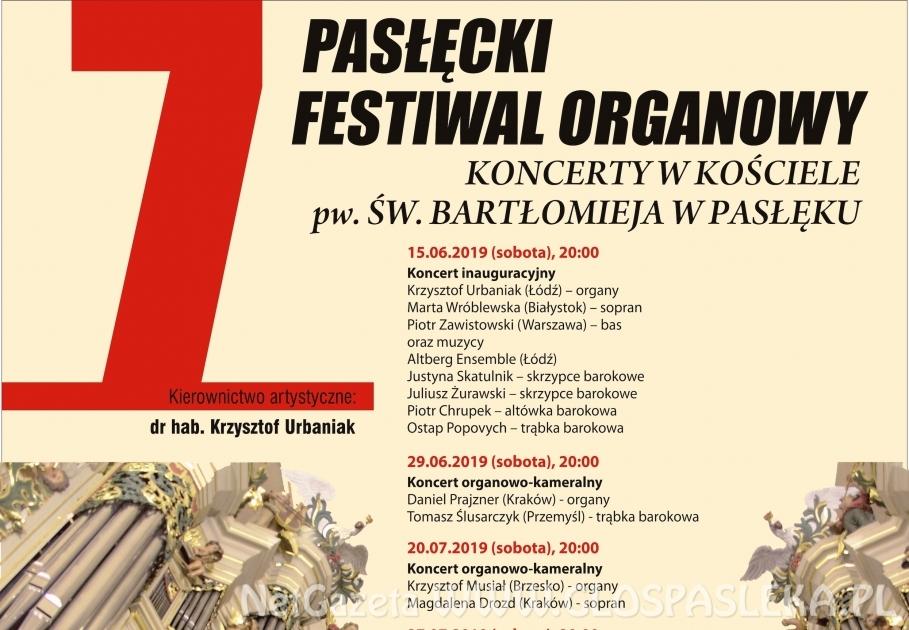 VII Festiwal Organowy - koncert inauguracyjny w sobotę