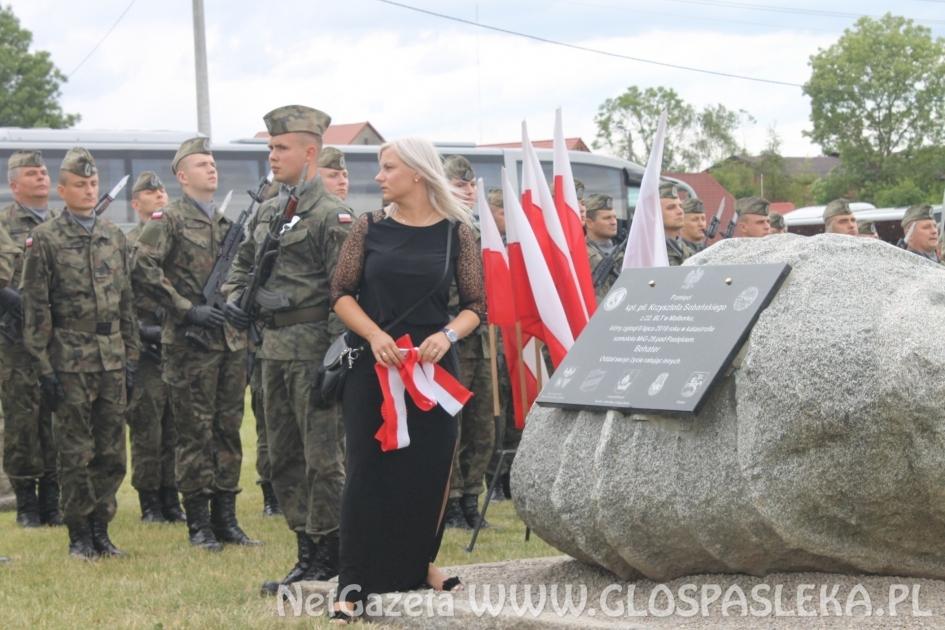 Marlena Sobańska odsłoniła tablicę