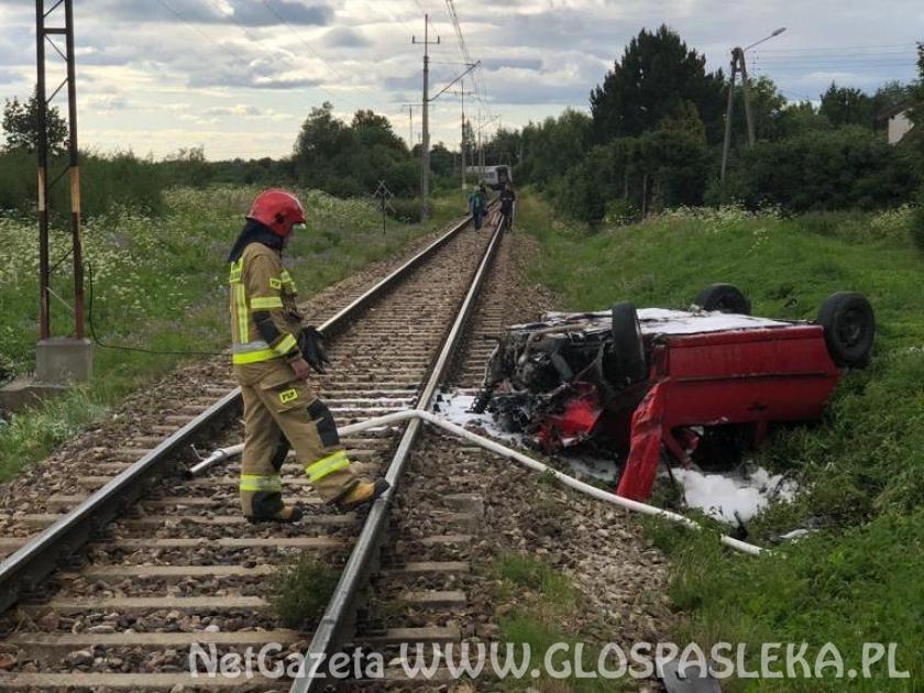 Zderzenie na przejeździe kolejowym