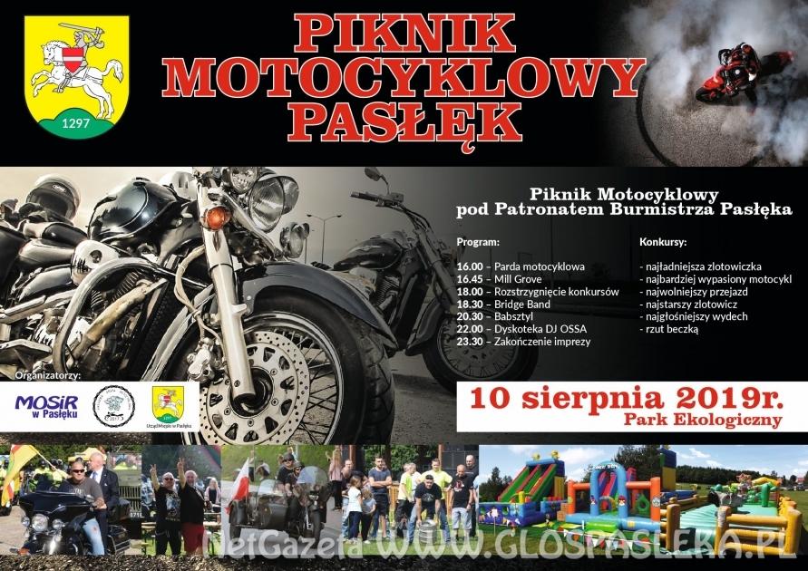 Plakat promujący Piknik Motocyklowy