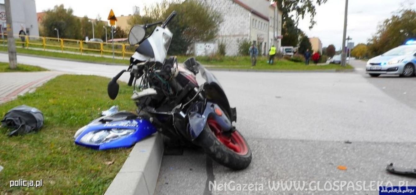 Młynary: Wywrócił się na motorowerze. Nie był w stanie dmuchnąć w alkomat