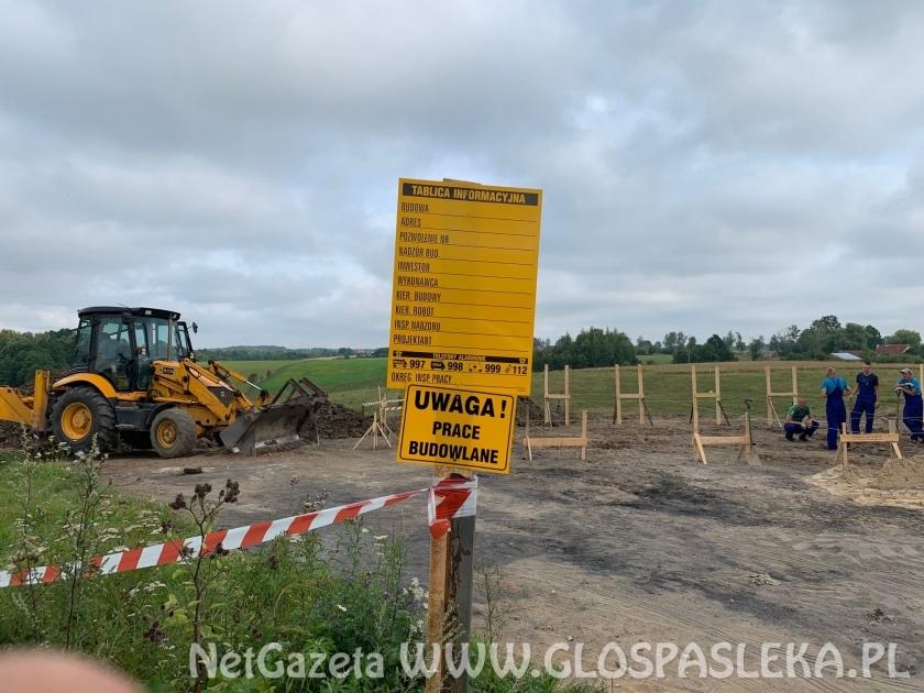 Pierwsze prace przy budowie świetlicy w Sałkowicach