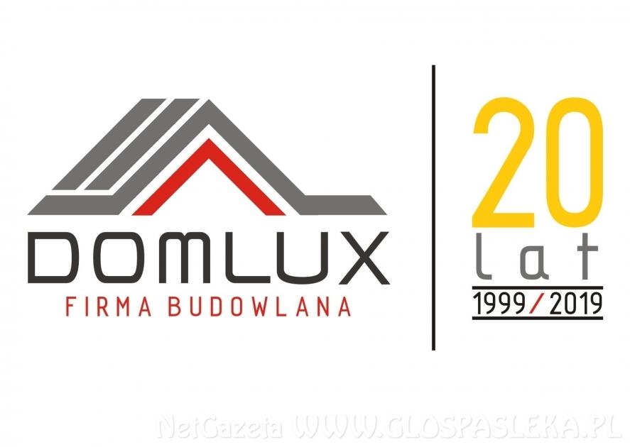 Domlux Sp. z o.o.  w związku z prowadzonymi realizacjami: