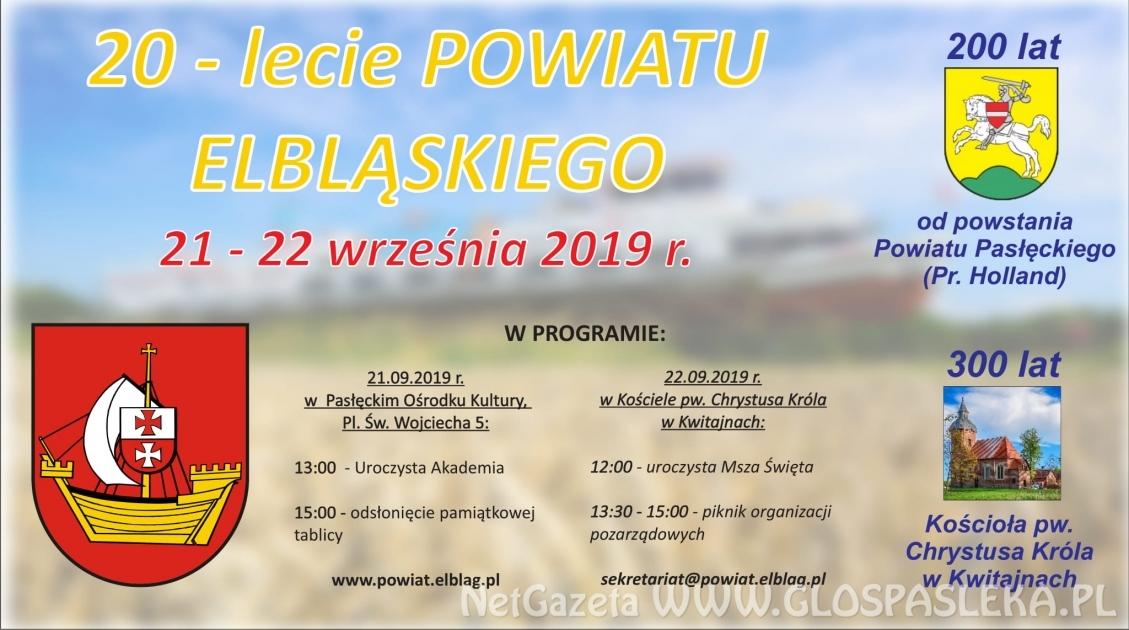 20 lat powiatu elbląskiego