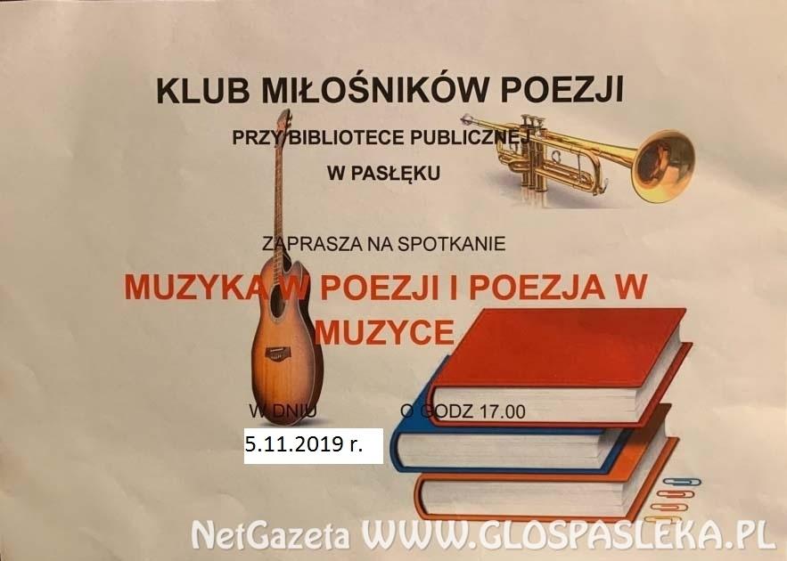 Klub Miłośników Poezji zaprasza
