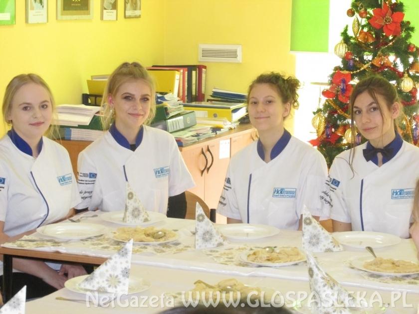 Co u hotelarzy?  Świąteczne warsztaty kulinarne w Zespole Szkół w Pasłęku