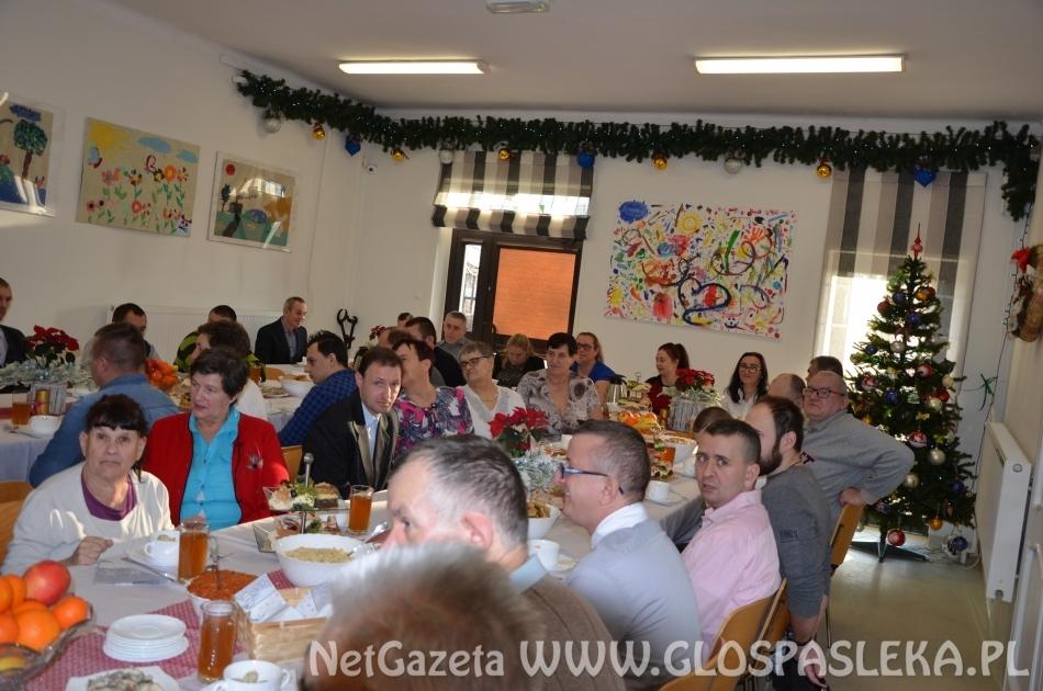 Spotkanie Wigilijne w Środowiskowym Domu Samopomocy w Rzecznej