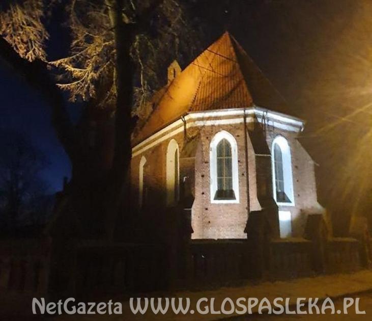 Iluminacja kościoła w Mariance i Zielonce Pasłęckiej