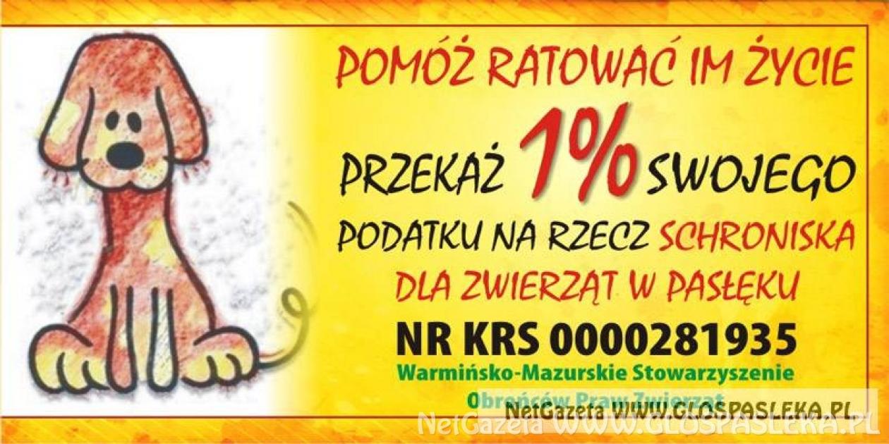 Podaruj 1% na schronisko