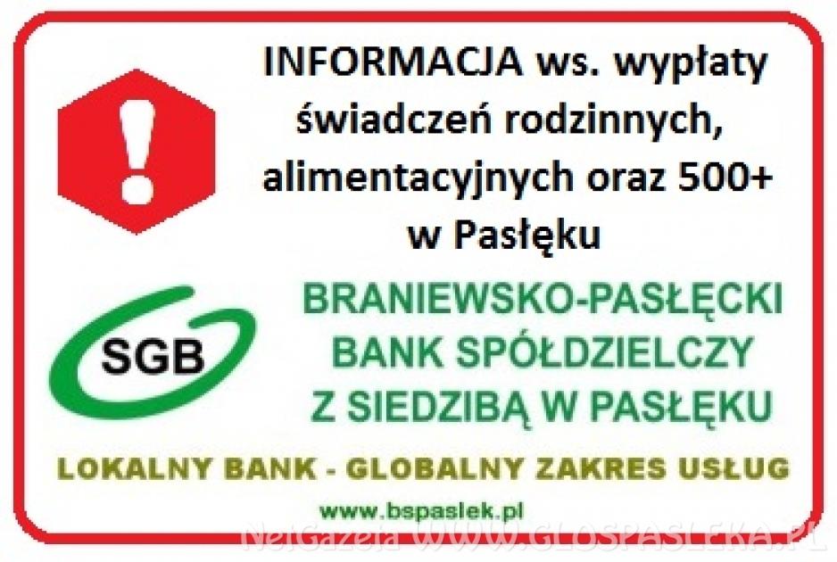 Komunikat Banku Spółdzielczego