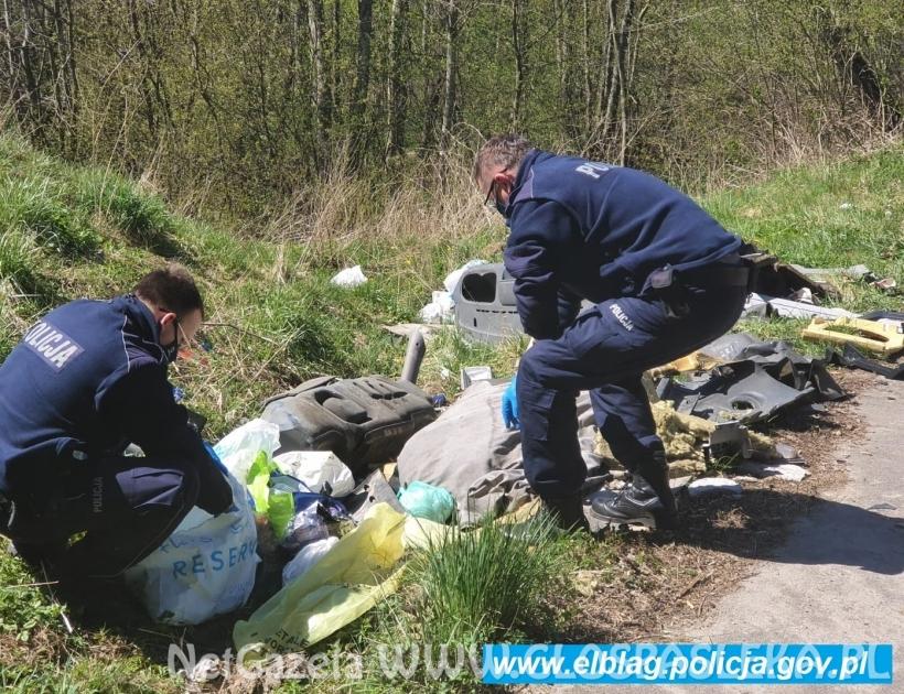 Młynary: Policjanci znaleźli nielegalne wysypisko śmieci