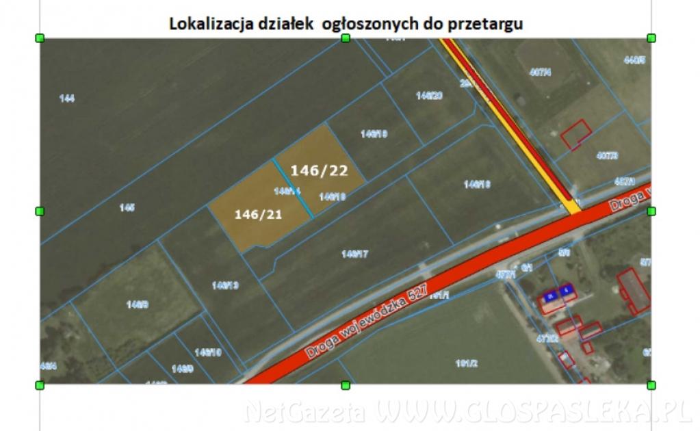 Przetarg na kolejne działki w Jelonkach Gmina Rychliki