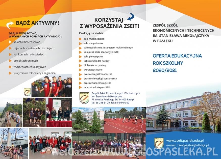 Rekrutacja do Zespołu Szkół Ekonomicznych i Technicznych w Pasłęku