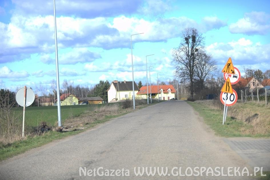 Utrudnienia na drodze Dłużyna - Krosno