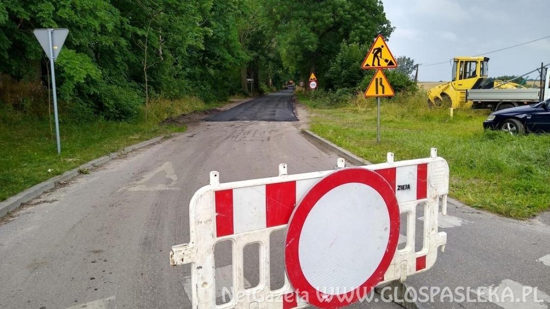 Ogłoszenie o zamknięciu drogi