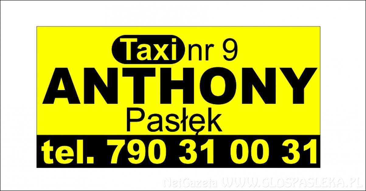 Taxi ANTHONY  - zmieniamy się dla Was…