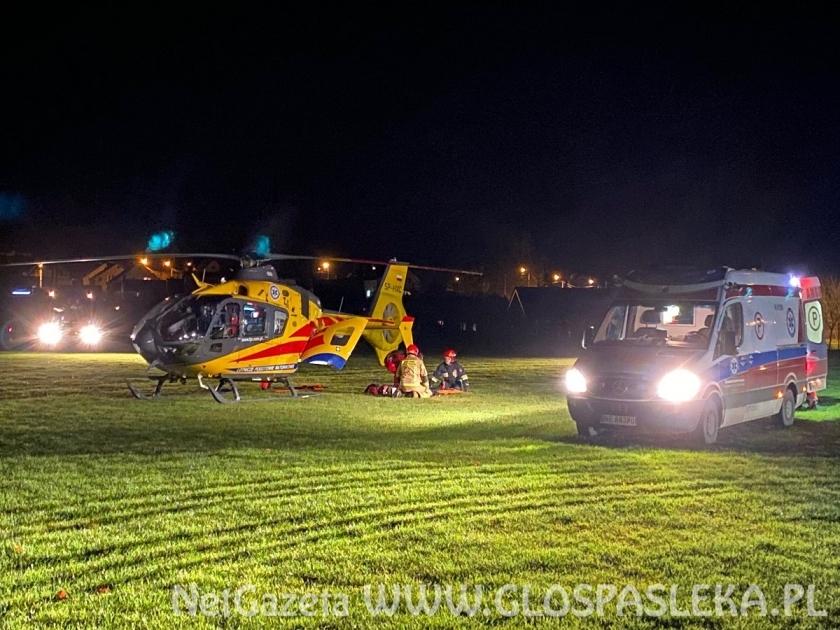 Helikopter zabrał 50 – letniego mężczyznę