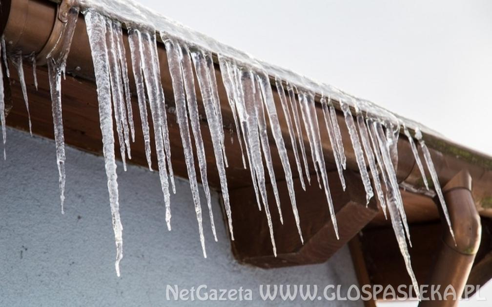 Uwaga na sople i nawisy śnieżne